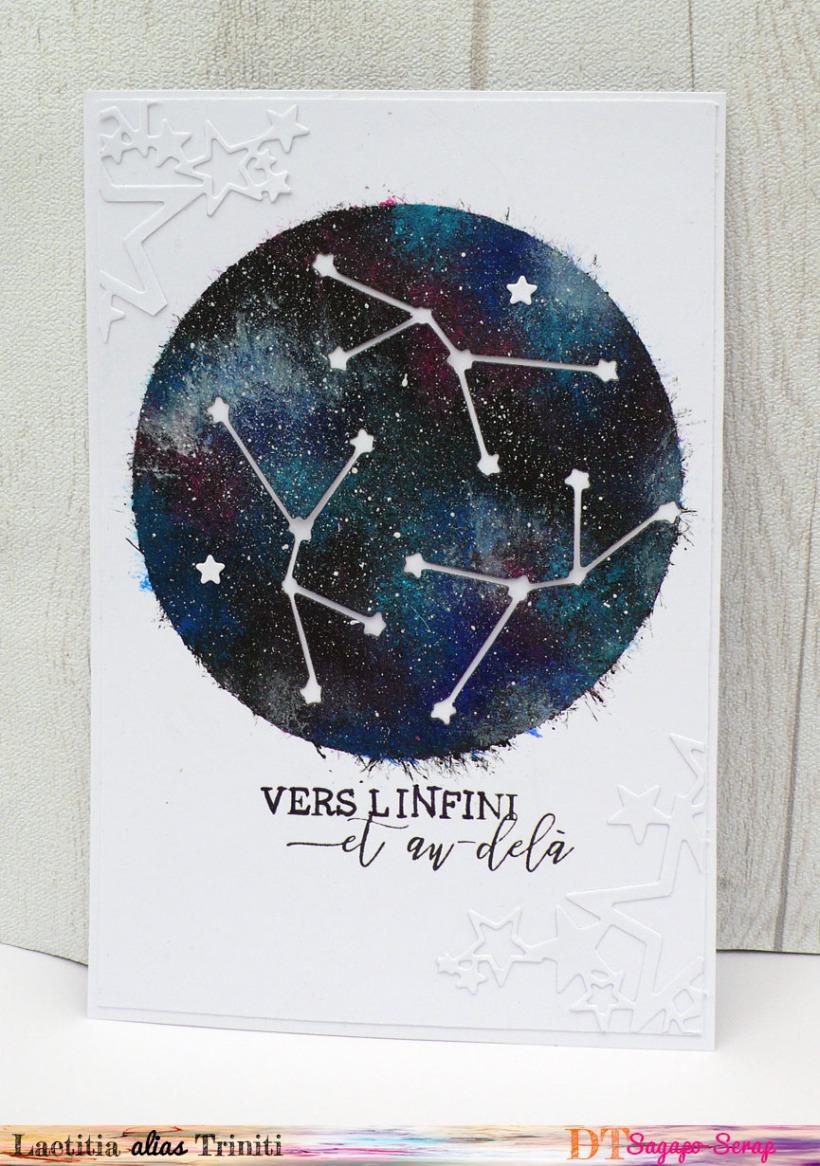 voie lactée en peinture acrylique avec decoupe constellation
